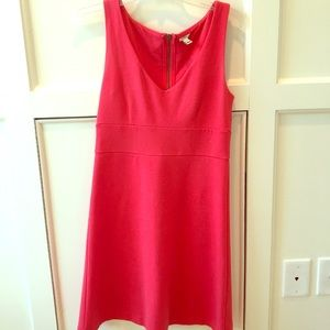 Cherry red J Crew cotton dress with zipper